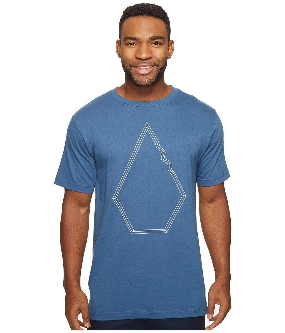 Volcom - Drew Short Sleeve T-Shirt (Smokey Blue) Men's T Shirt