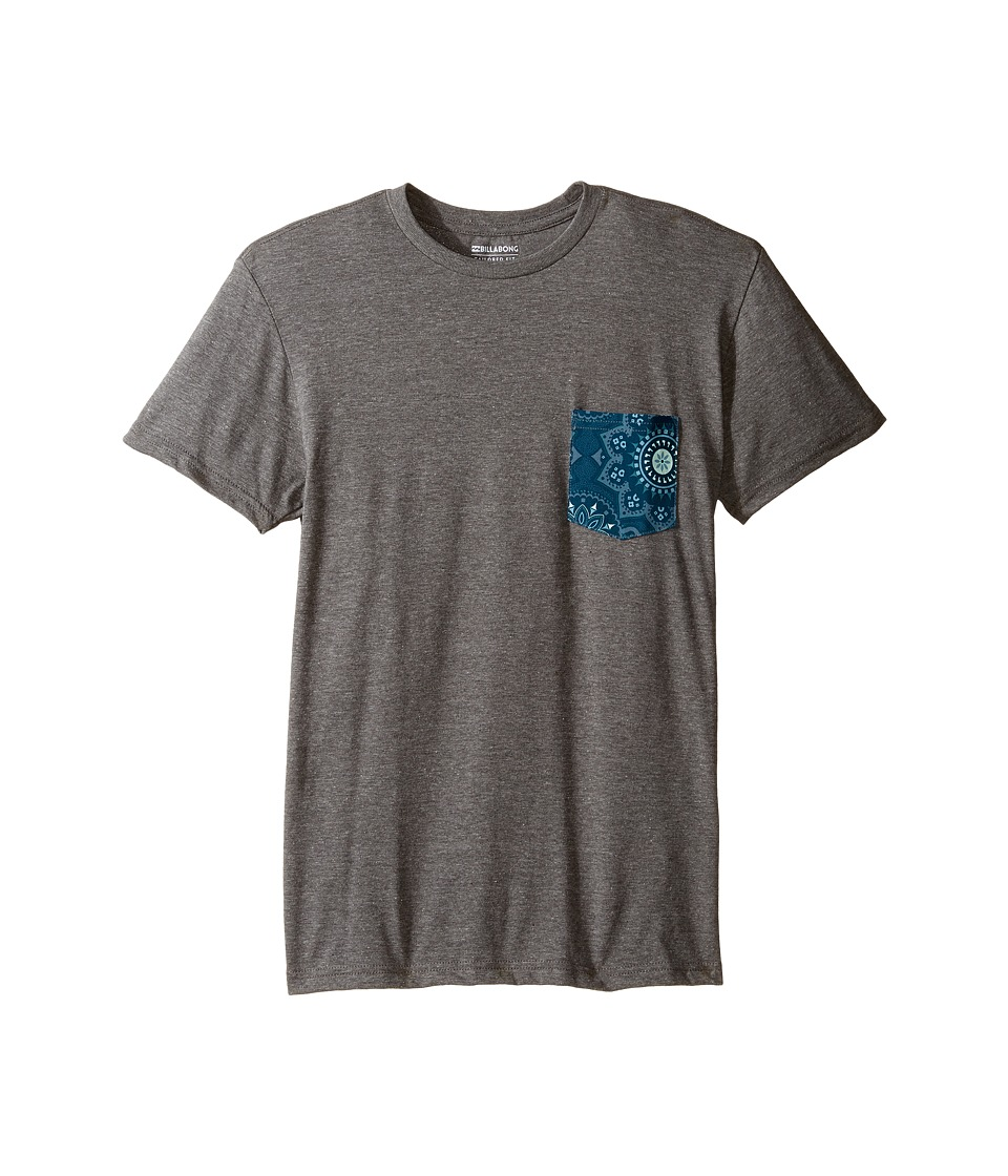 Billabong Kids - Team Pocket T-Shirt (Big Kids) (Dark Grey Heather 1) Boy's T Shirt