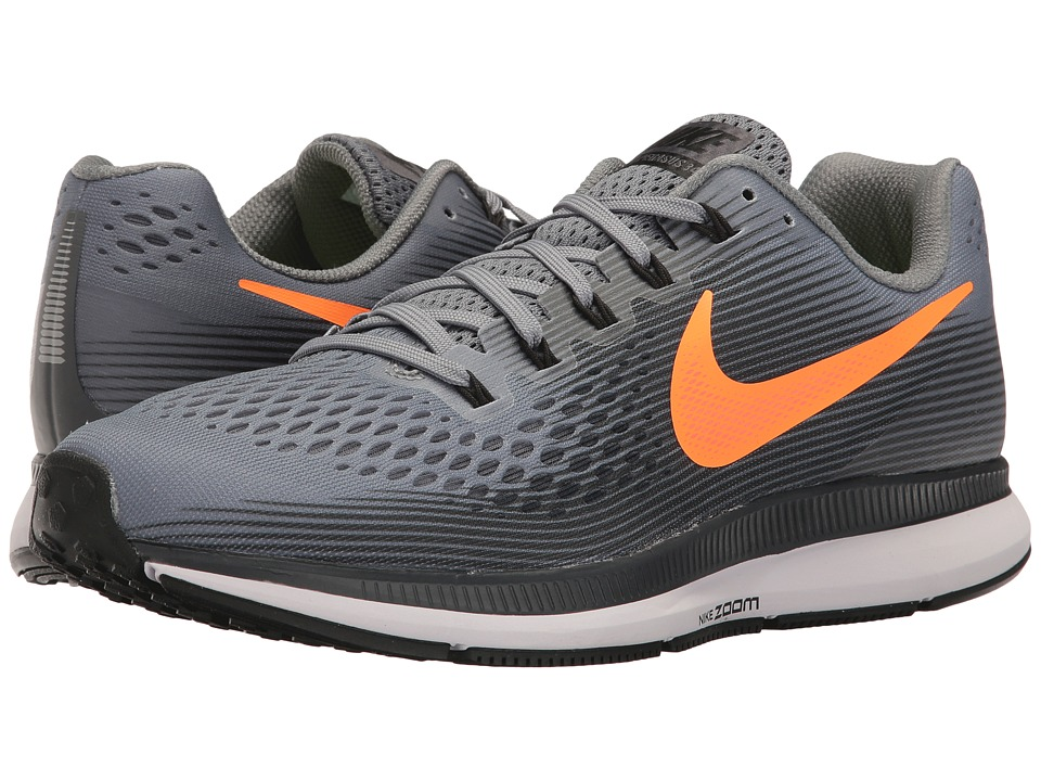 Nike - Air Zoom Pegasus 34 (Pure Platinum/Black/Tart/Hyper Orange) Men's Running Shoes