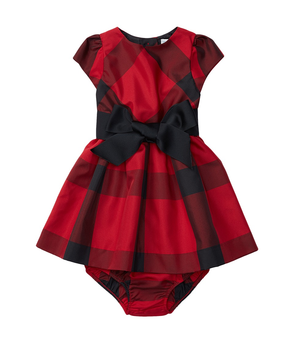 Ralph Lauren Baby - Poly Taffeta Plaid Dress (Infant) (Red/Black) Girl's Dress