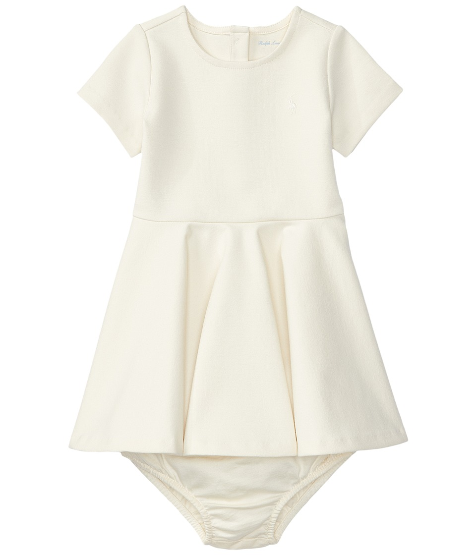 Ralph Lauren Baby - Ponte Dress (Infant) (Herbal Milk) Girl's Dress