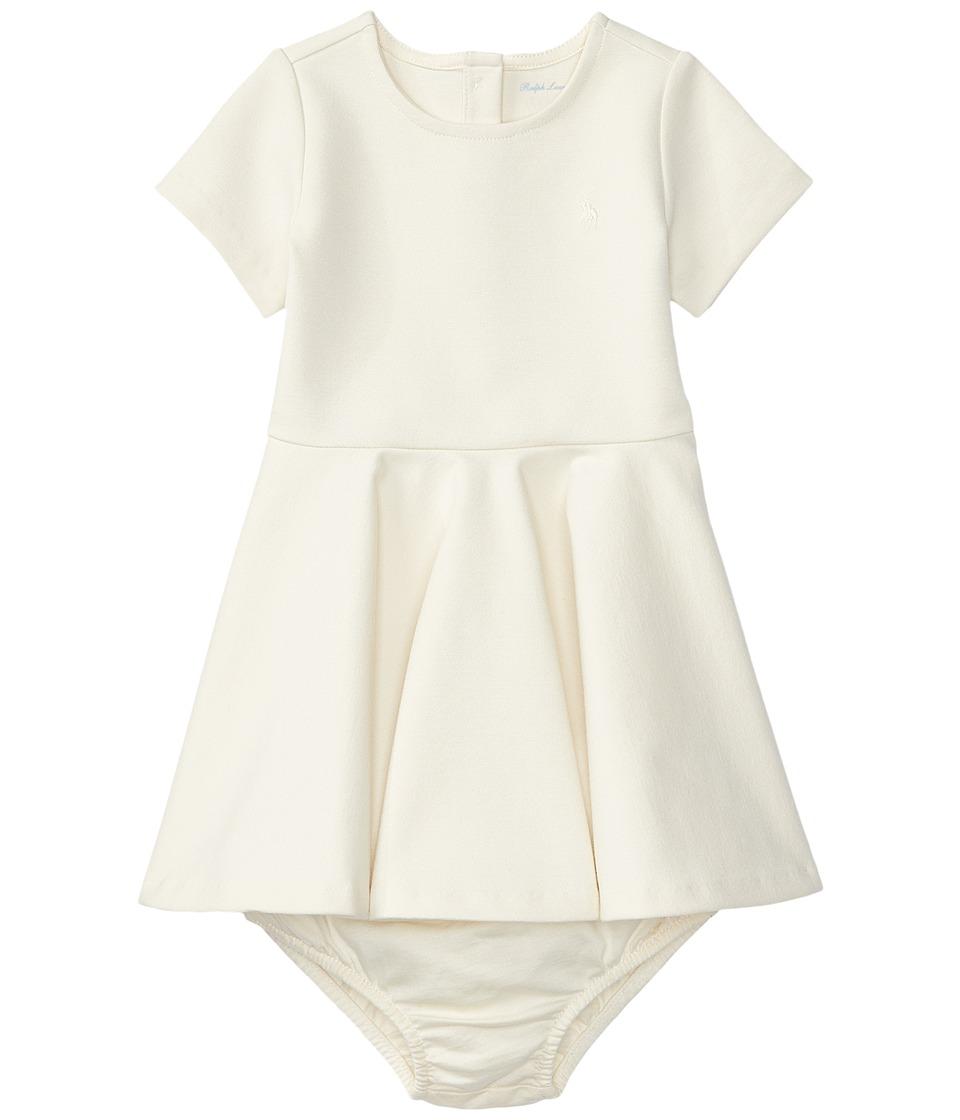 Ralph Lauren Baby - Ponte Dress (Infant) (Herbal Milk) Girl's Dress
