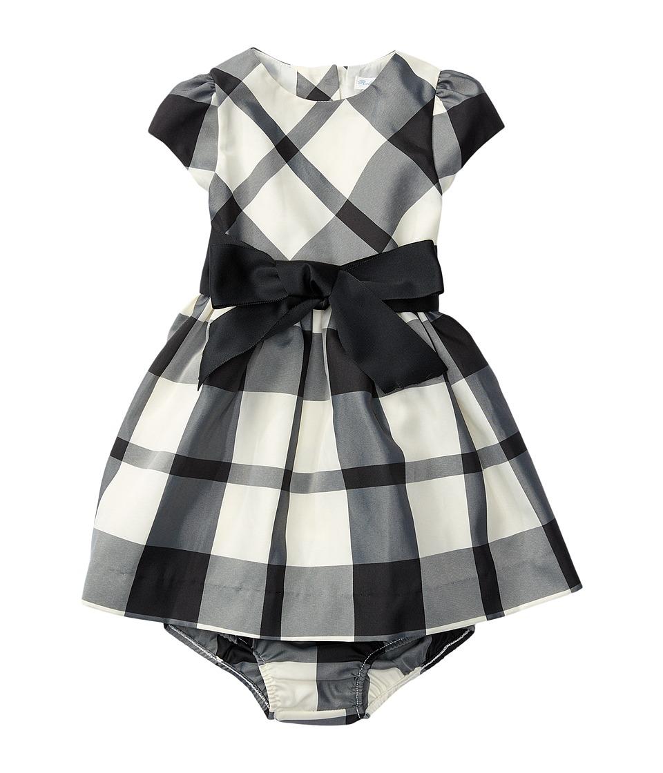 Ralph Lauren Baby - Poly Taffeta Plaid Dress (Infant) (Cream/Black) Girl's Dress