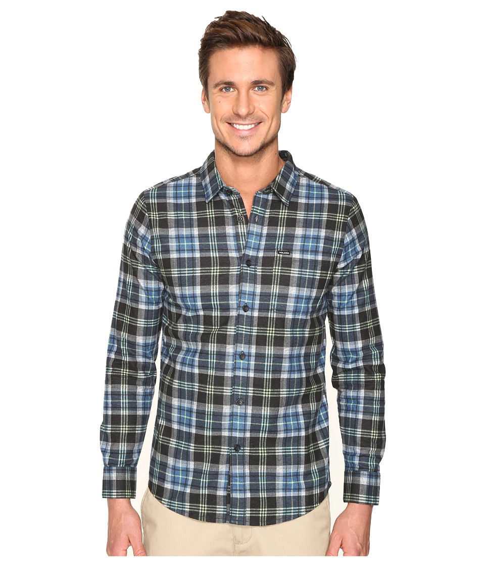 Volcom - Hayden Long Sleeve Flannel (Smokey Blue) Men's Clothing