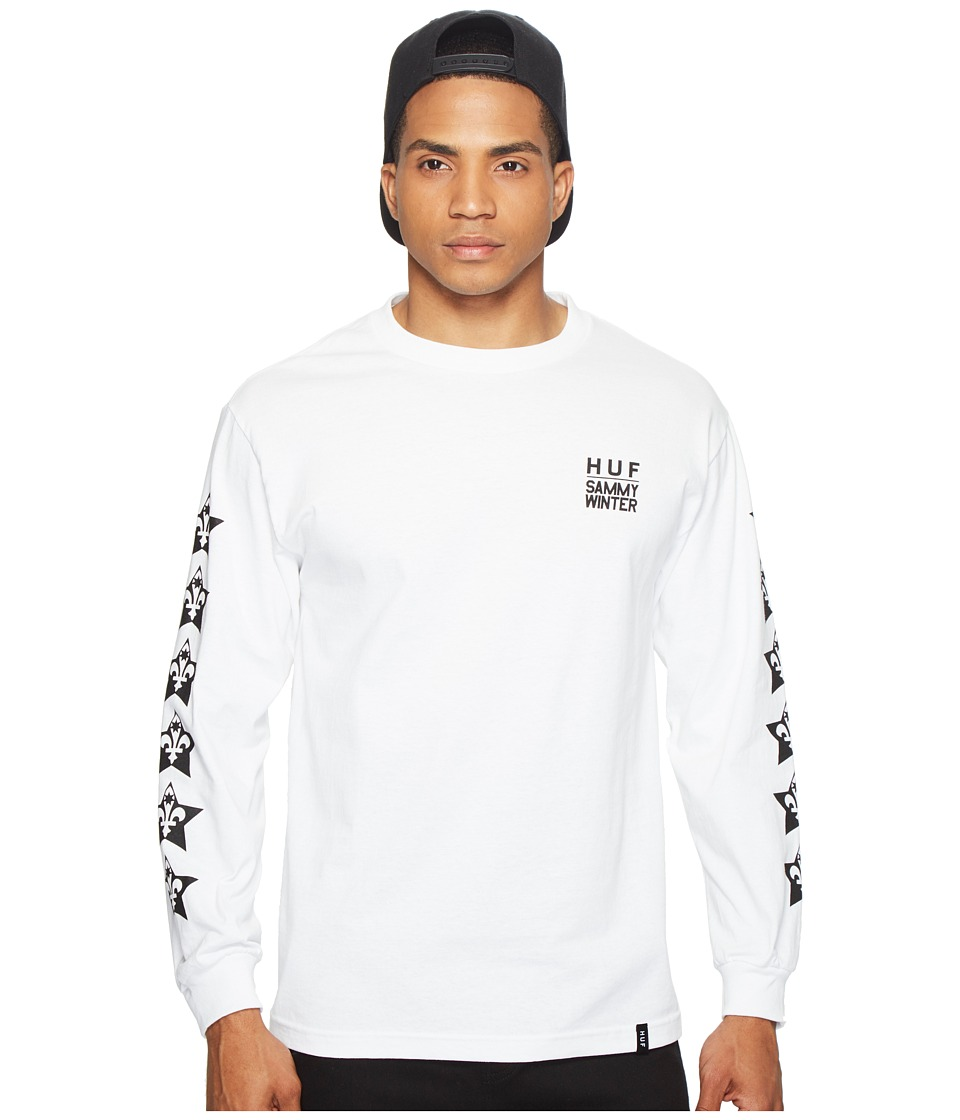 HUF - Cliche X HUF Long Sleeve Tee (White) Men's T Shirt
