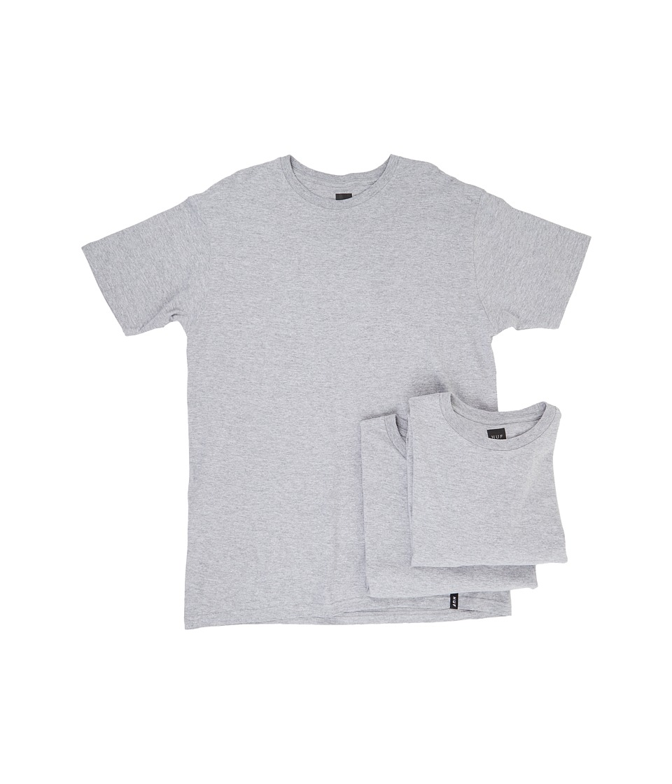 HUF - 3-Pack Tee (Grey Heather) Men's T Shirt