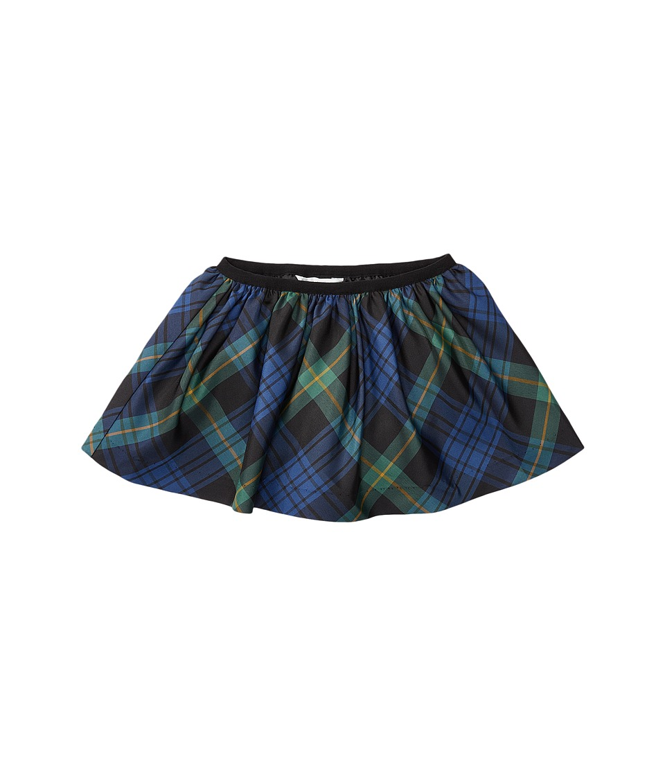 Ralph Lauren Baby - Poly Taffeta Plaid Skirt (Infant) (Black/Navy Multi) Girl's Skirt
