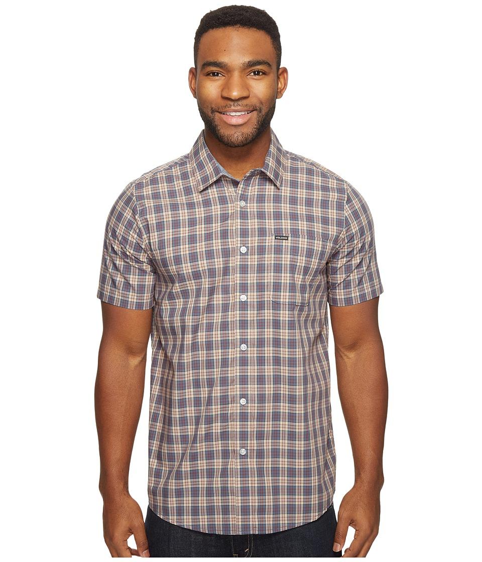 Volcom - Amerson Short Sleeve Woven (Sandstorm) Men's Clothing