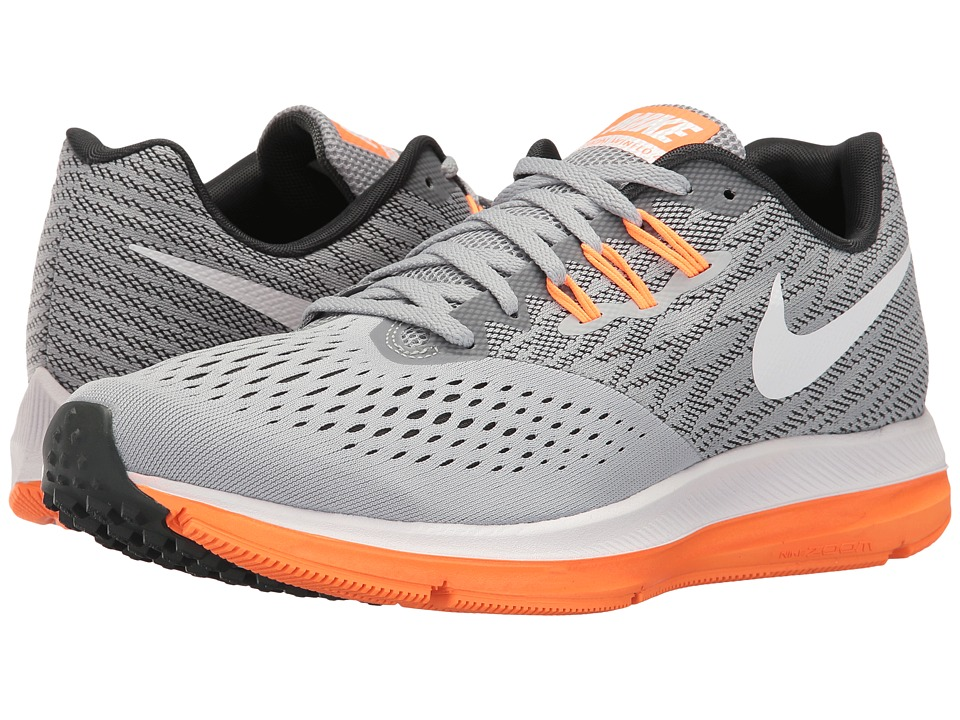 Nike - Zoom Winflo 4 (White/Black/Wolf Grey) Men's Running Shoes