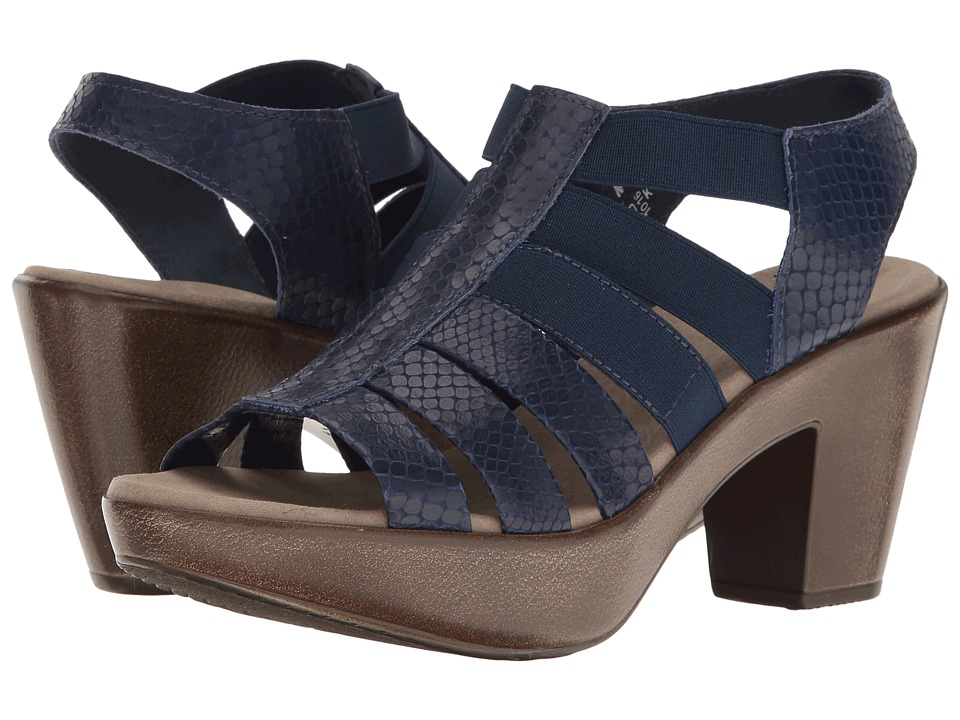 Munro - Cookie (Blue Snake Print Leather/Matching Elastic) High Heels