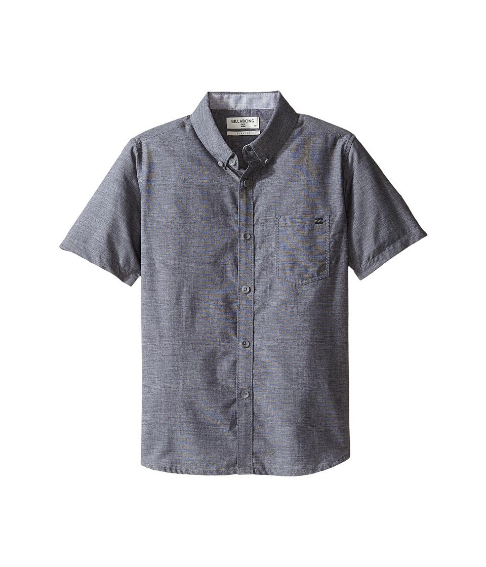 Billabong Kids - All Day Chambray Short Sleeve Shirt (Big Kids) (Black) Boy's Short Sleeve Button Up
