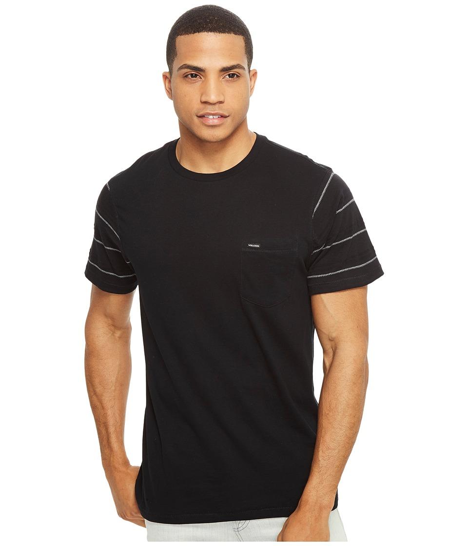 Volcom - Sutter Crew (Black) Men's Clothing