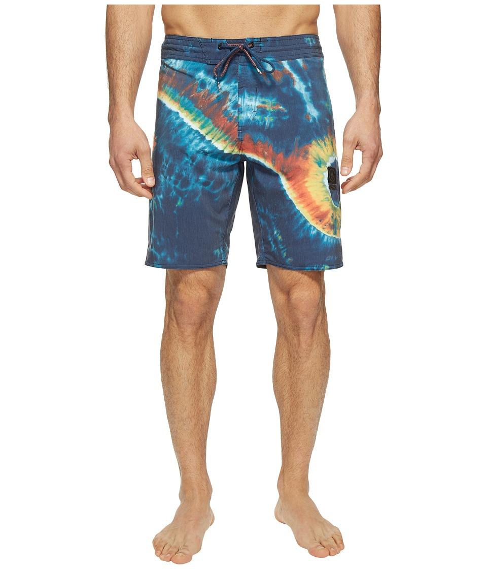 Volcom - Yin Yang Slinger 19 Boardshorts (Navy) Men's Swimwear