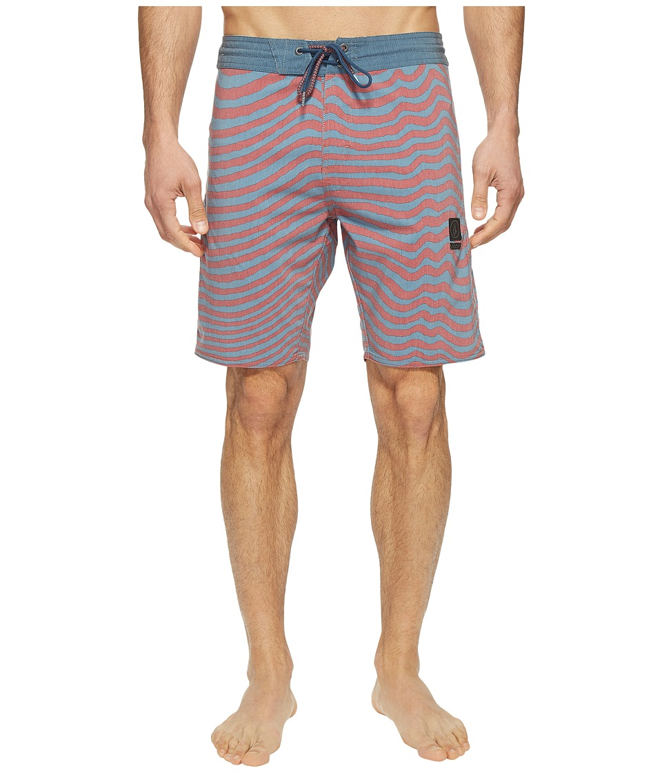 Volcom - Mag Vibes Slinger 19 Boardshorts (Ash Blue) Men's Swimwear