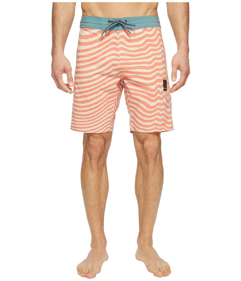 Volcom Mag Vibes Slinger 19 Boardshorts (Papaya) Men