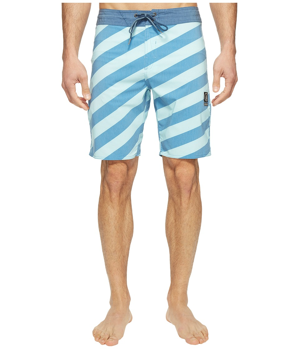 Volcom - Stripey Slinger 19 Boardshorts (Deep Water) Men's Swimwear