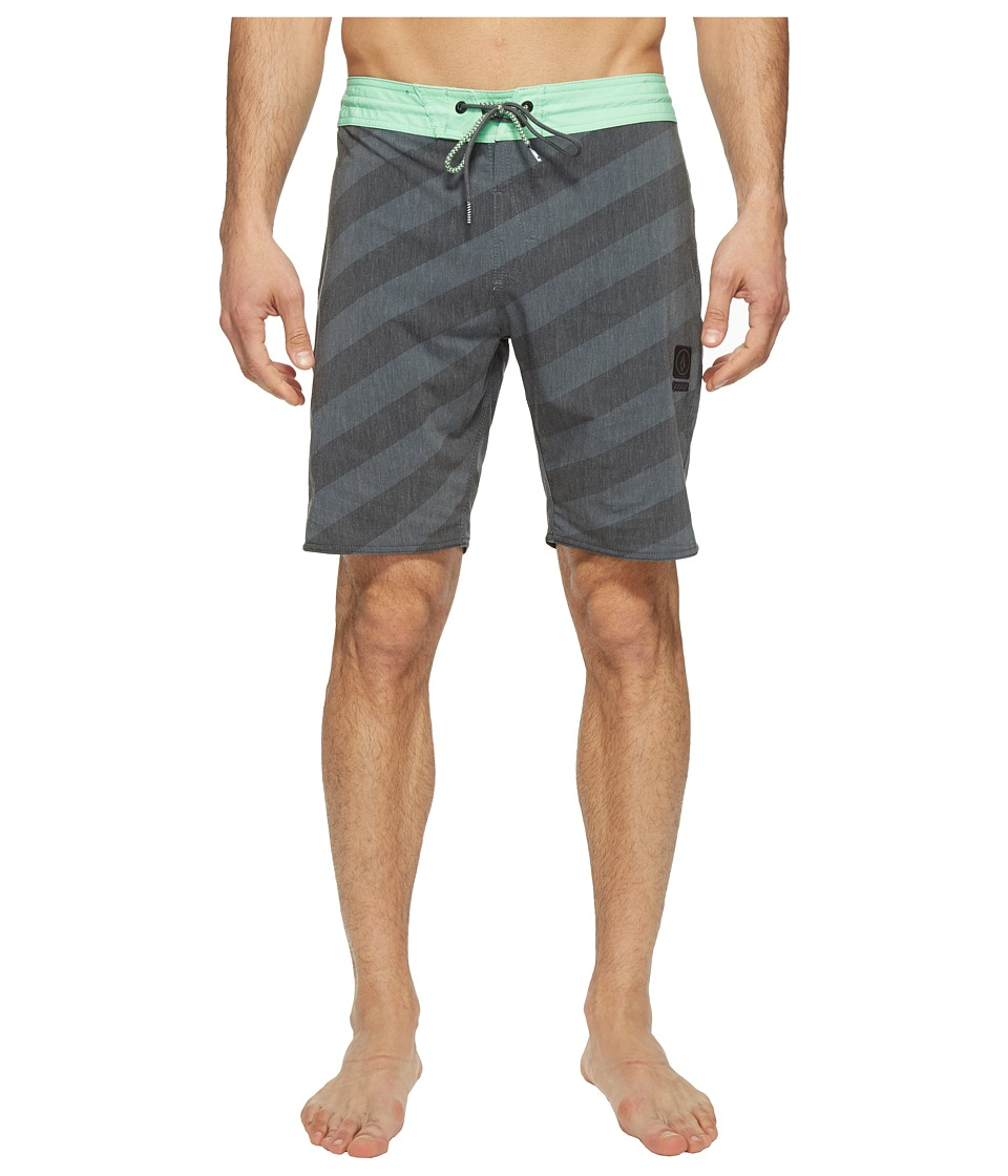 Volcom Stripey Slinger 19 Boardshorts (Stealth) Men