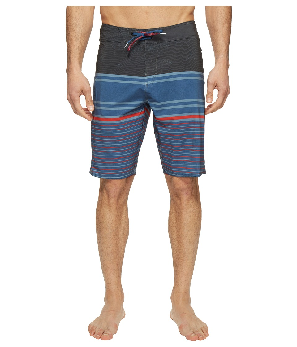 Volcom - Lido Liney Mod 21 Boardshorts (Smokey Blue) Men's Swimwear