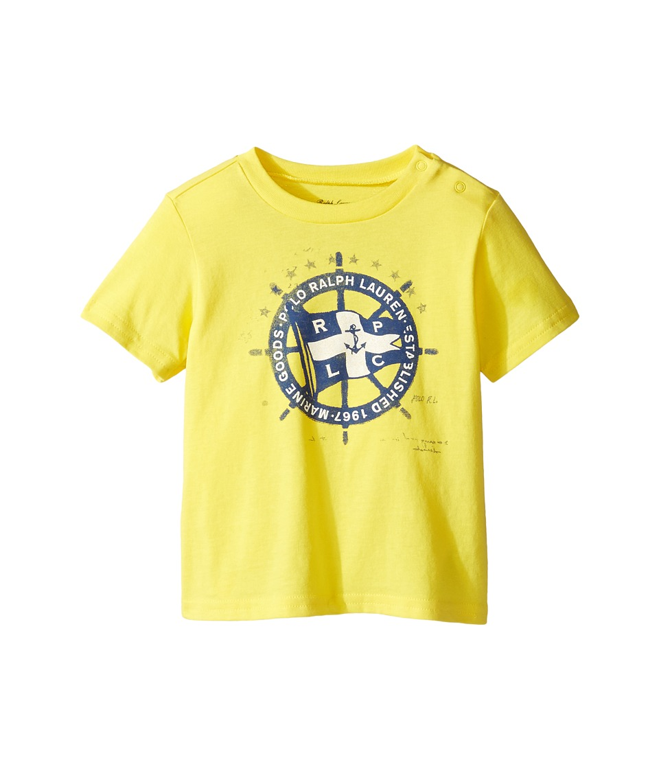 Ralph Lauren Baby - 30/1 Jersey Tee (Infant) (Active Yellow) Boy's T Shirt