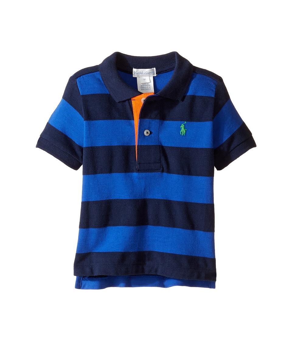 Ralph Lauren Baby - Yarn-Dyed Mesh Stripe Polo Top (Infant) (Cruise Royal Multi) Boy's Short Sleeve Pullover