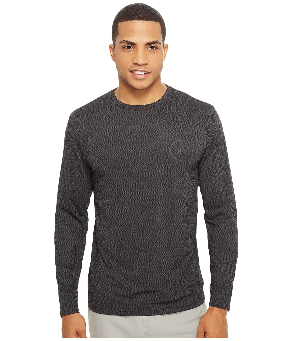 Volcom - Distortion Long Sleeve Loose Fit Rashguard (Stealth) Men's Workout