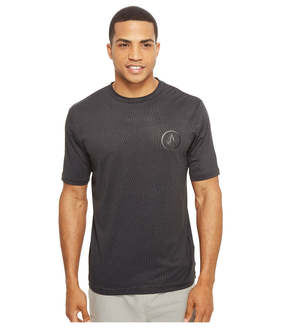 Volcom - Distortion Short Sleeve Loose Fit Rashguard (Stealth) Men's Workout