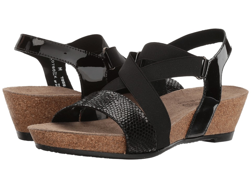 Munro - Lido (Black Snake Print) Women's Shoes