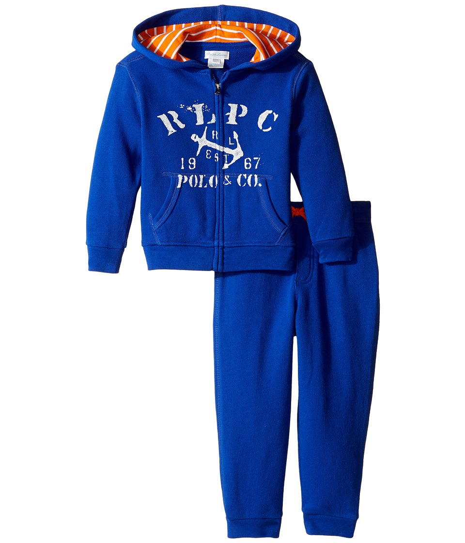 Ralph Lauren Baby - Atlantic Terry Hookup Pants Set (Infant) (Cruise Royal) Boy's Active Sets