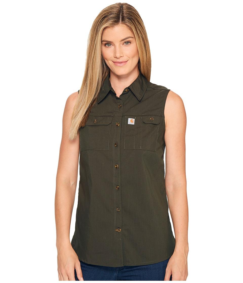 Carhartt - Force Ridgefield Sleeveless Shirt (Olive) Women's Sleeveless