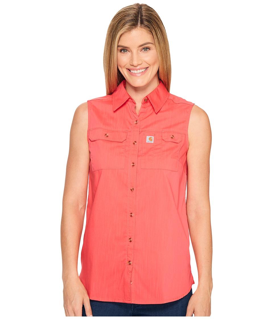 Carhartt - Force Ridgefield Sleeveless Shirt (Bright Coral) Women's Sleeveless