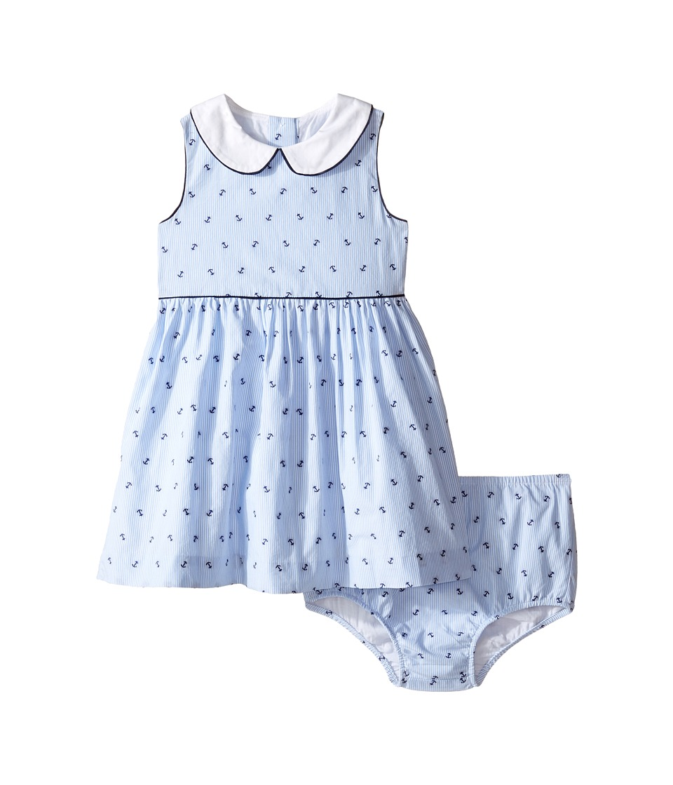 Ralph Lauren Baby - Yarn-Dyed Anchor Dobby Dress (Infant) (Blue/White Multi) Girl's Dress