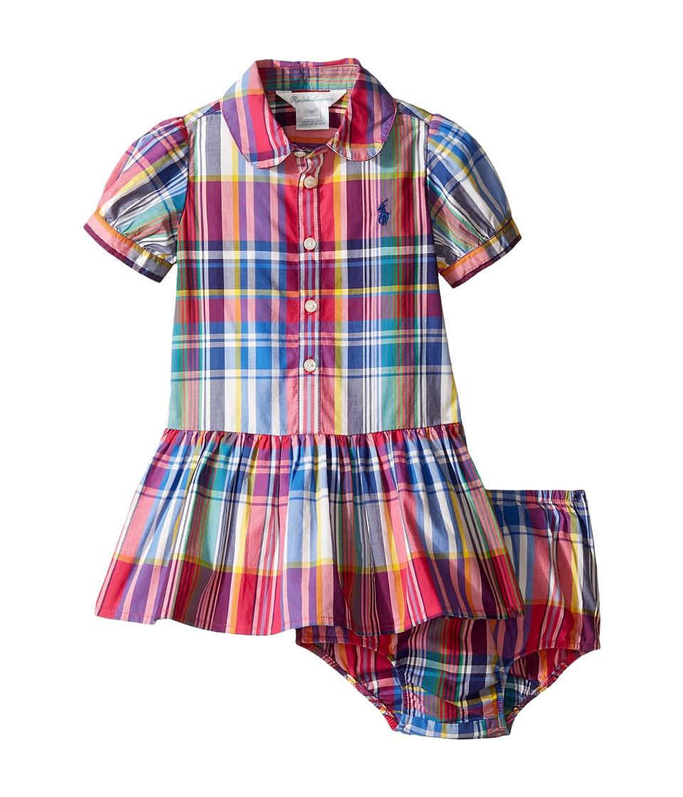 Ralph Lauren Baby - Poplin Plaid Dress (Infant) (Pink Multi) Girl's Dress