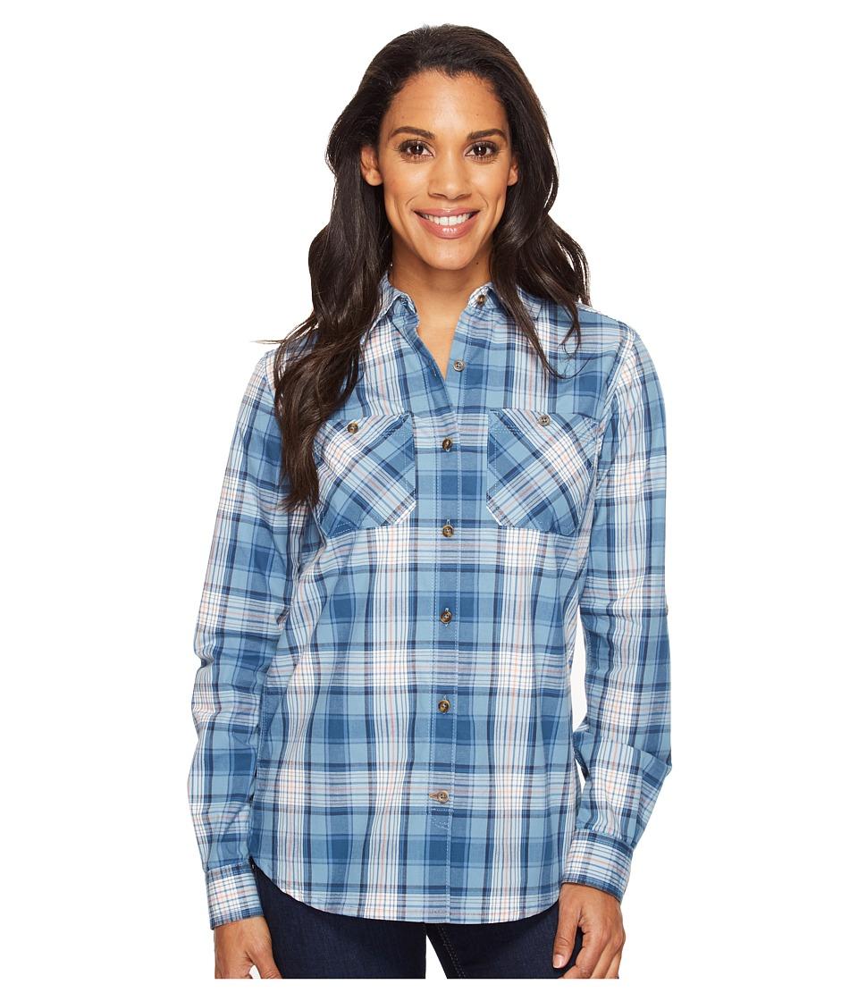 Carhartt - Huron Shirt (Ocean Blue) Women's Short Sleeve Button Up