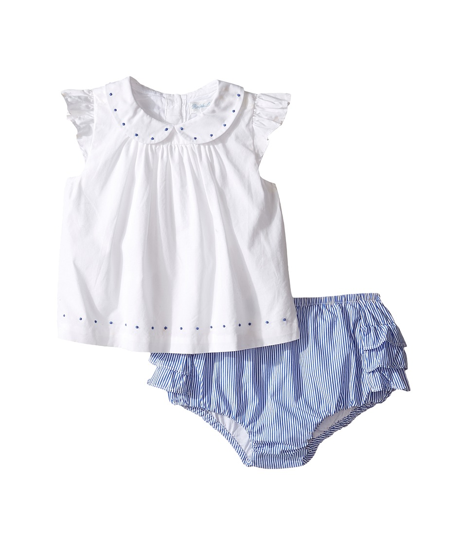 Ralph Lauren Baby - Broadcloth Poplin Bloomer Shorts Set (Infant) (White) Girl's Active Sets