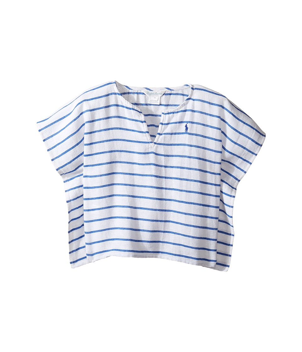 Ralph Lauren Baby - Cotton Gauze Stripe Cover-up (Infant) (White/Blue) Girl's Swimwear