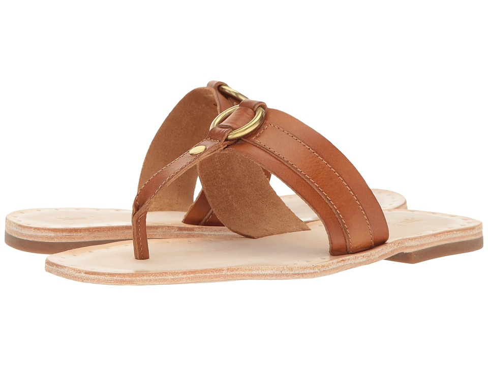 Frye - Avery Harness Thong (Tan Smooth Full Grain) Women's Sandals