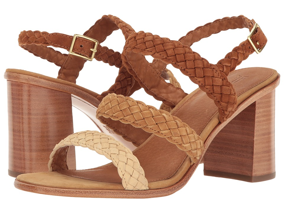 Frye Amy Braid Sandal (Camel Multi Suede) Women