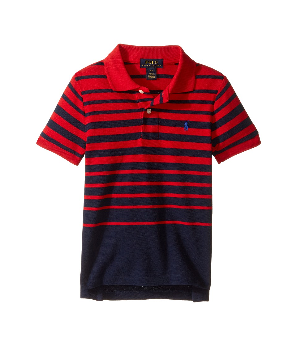 Polo Ralph Lauren Kids - Yarn-Dyed Mesh Short Sleeve Shirt (Toddler) (Cruise Red Multi) Boy's Short Sleeve Knit