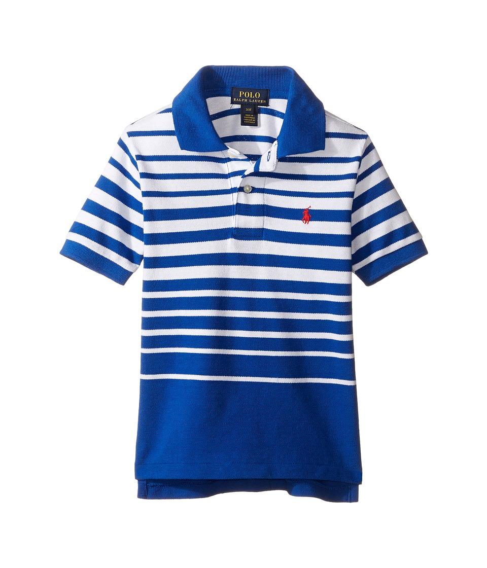Polo Ralph Lauren Kids - Yarn-Dyed Mesh Short Sleeve Shirt (Toddler) (Sapphire Star Multi) Boy's Short Sleeve Knit