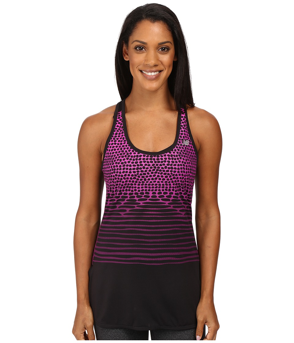 New Balance - Accelerate Tunic Graphite Tank Top (Azalea) Women's Sleeveless