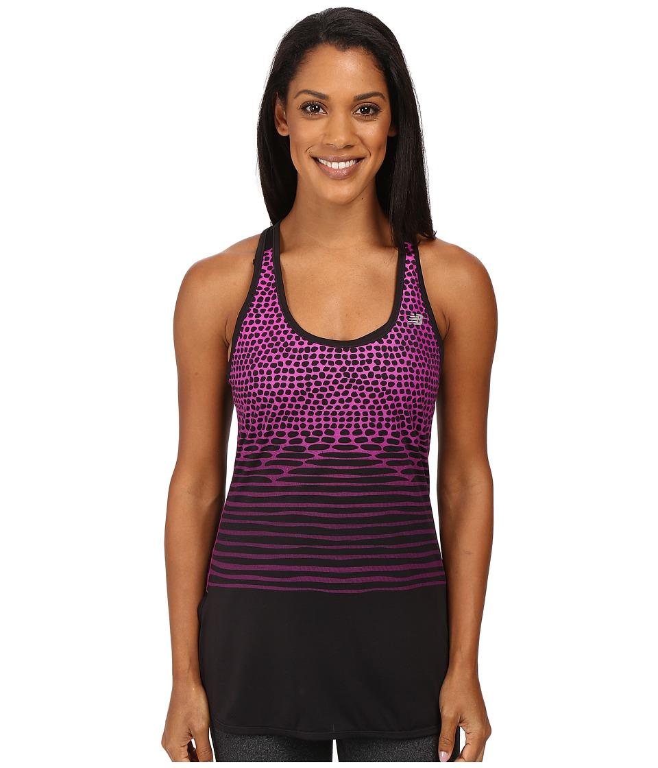 New Balance - Accelerate Tunic Graphite Tank Top (Azalea) Women's Sleeveless