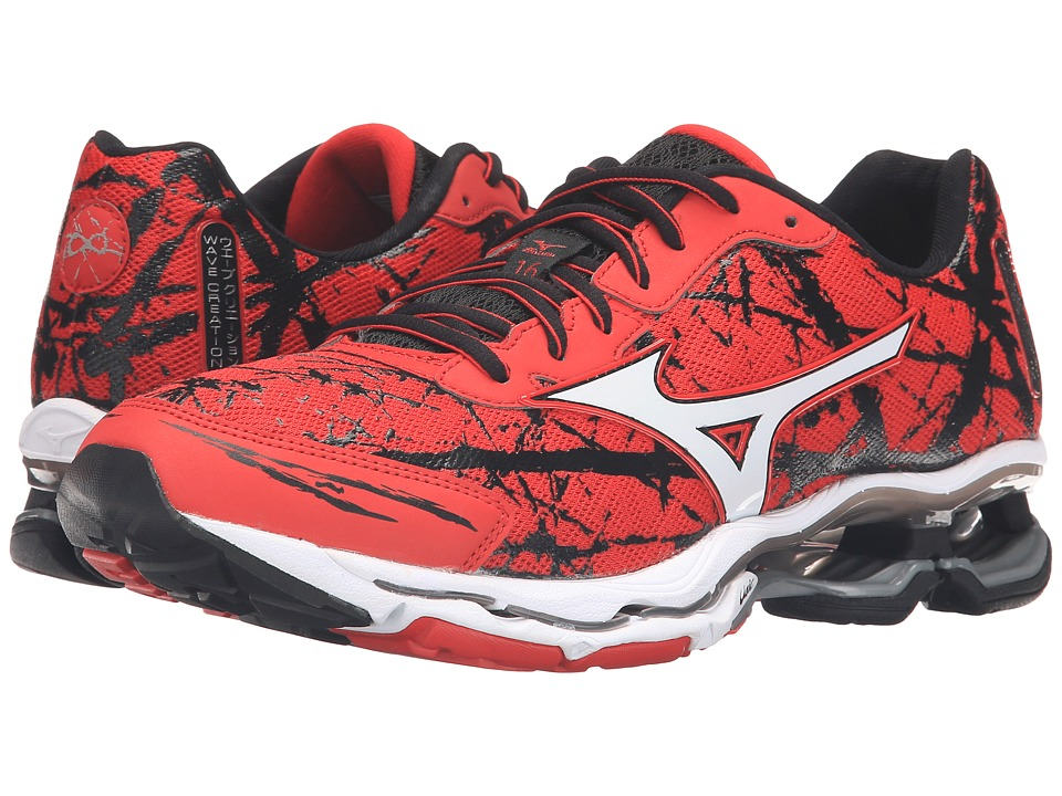 Mizuno - Wave Creation 16 (Chinese Red/White) Men's Shoes