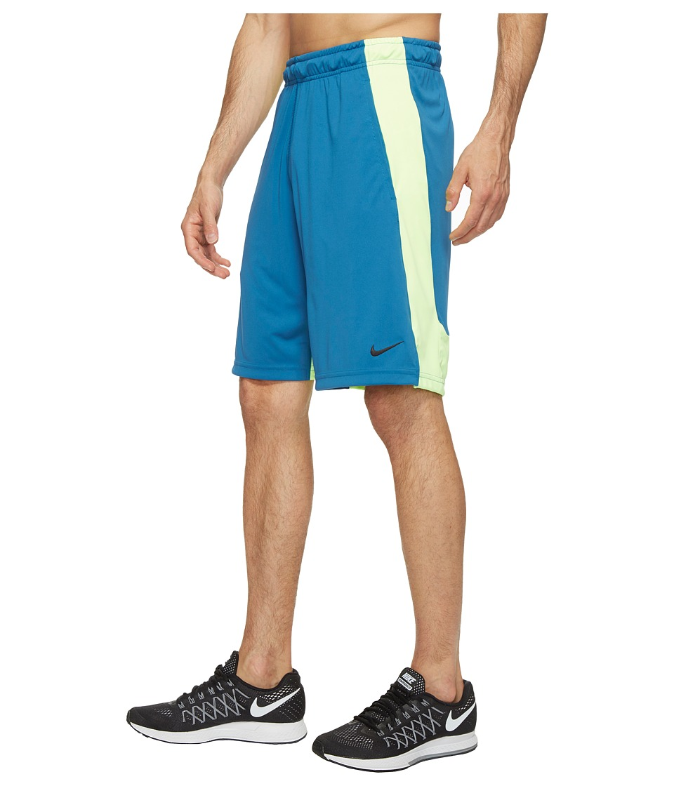 Nike Dry 9 Training Short (Industrial Blue/Ghost Green/Black) Men