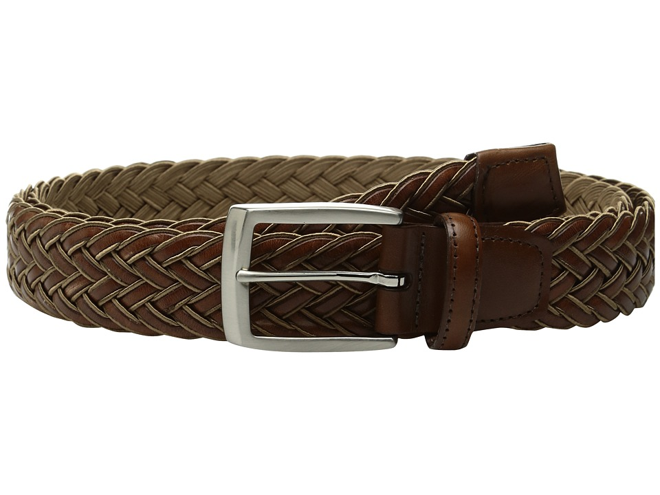 Torino Leather Co. - 35mm Italian Braided Rayon with Calf Inlay (Tan/Cognac) Men's Belts