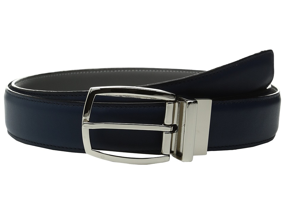 Torino Leather Co. - 35mm Italian Soft Calf Reversable (Navy/Grey) Men's Belts