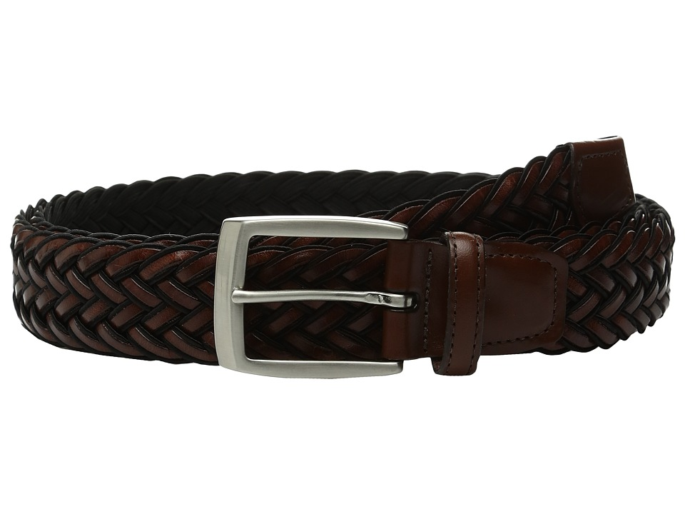 Torino Leather Co. - 35mm Italian Braided Rayon with Calf Inlay (Black/Brown) Men's Belts