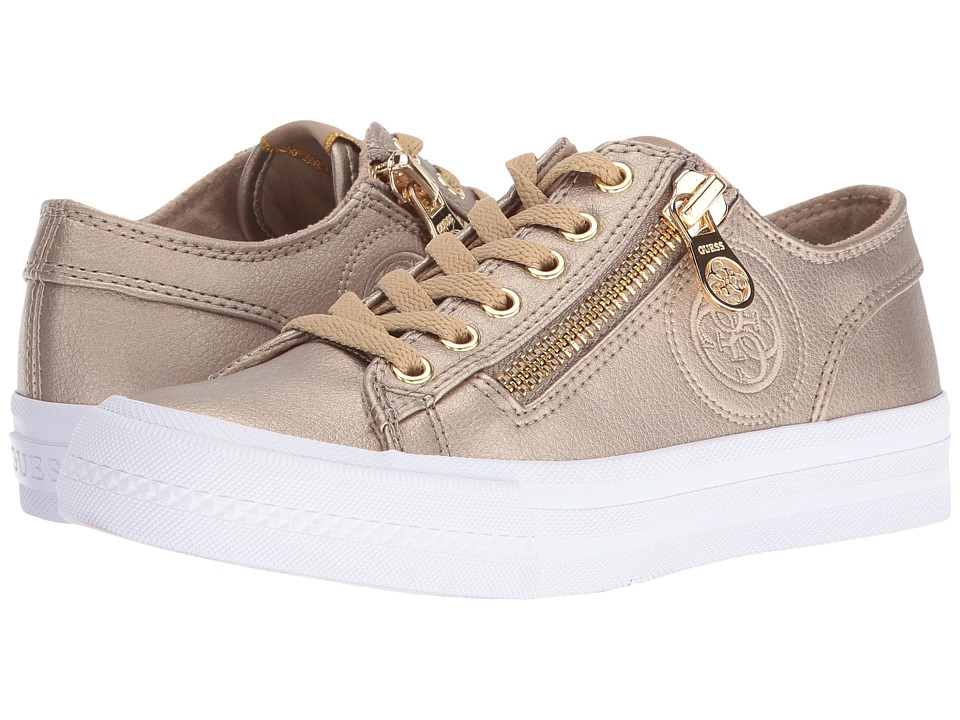 GUESS - Gemica (Gold) Women's Lace up casual Shoes