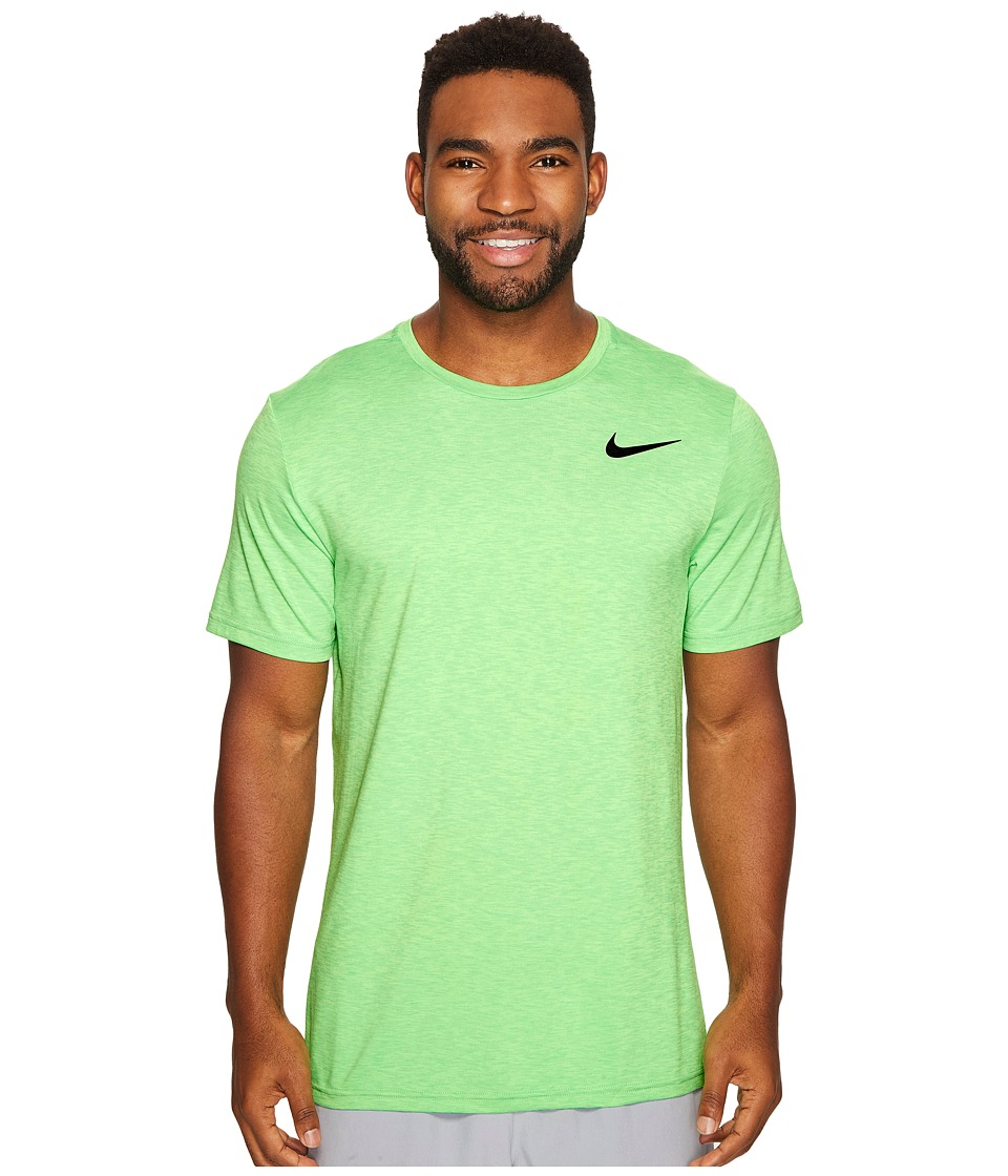 Nike - Breathe Short Sleeve Training Top (Ghost Green/Tourmaline/Black) Men's Clothing