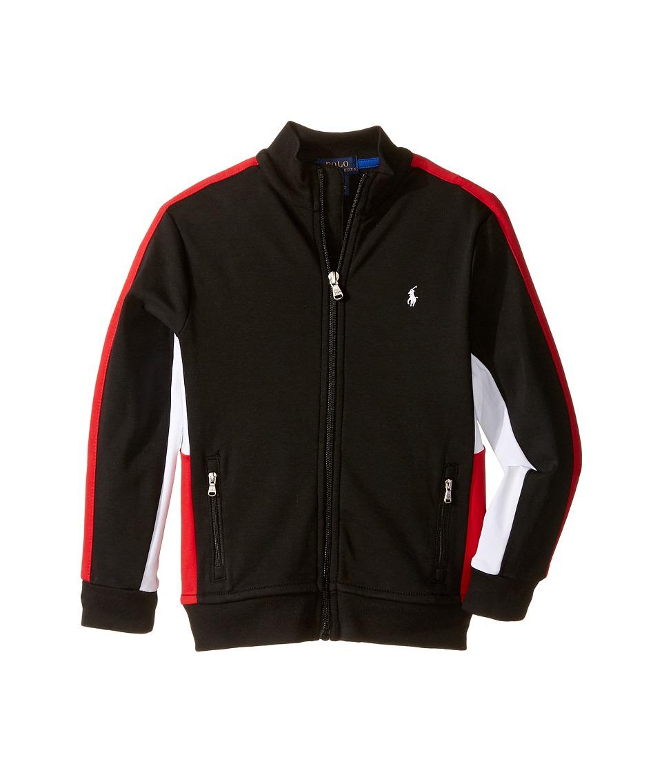 Polo Ralph Lauren Kids - Long Sleeve Full Zip Mock Neck Shirt (Little Kids/Big Kids) (Polo Black) Boy's Long Sleeve Pullover