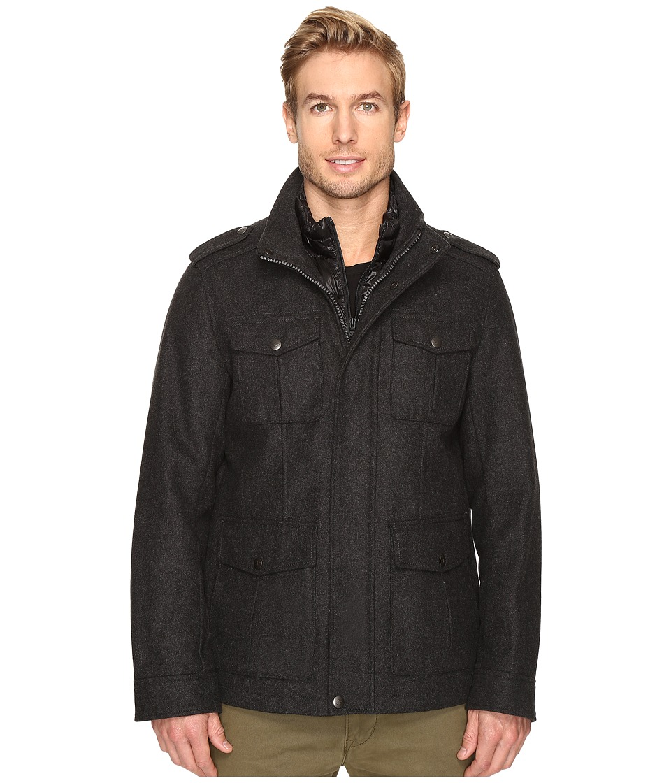 Dockers - Four-Pocket Military w/ Nylon Bib (Charcoal) Men's Coat